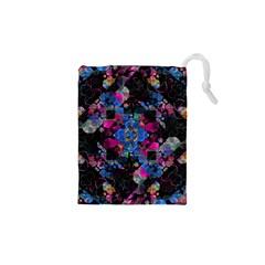 Stylized Geometric Floral Ornate Drawstring Pouches (XS)
