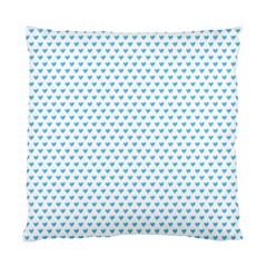Sky Blue Small Hearts Pattern Standard Cushion Case (two Sides)