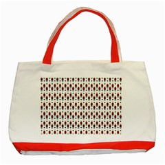 Geometric retro patterns Classic Tote Bag (Red)