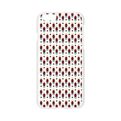 Geometric retro patterns Apple Seamless iPhone 6/6S Case (Transparent)