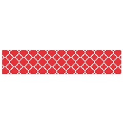 Poppy Red Quatrefoil Pattern Flano Scarf (small)