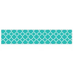 Turquoise Quatrefoil Pattern Flano Scarf (small)