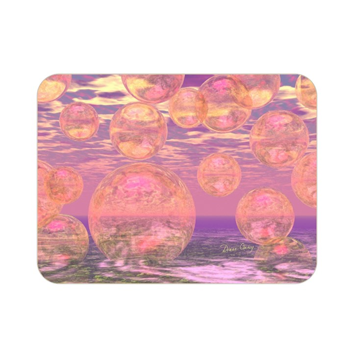 Glorious Skies, Abstract Pink And Yellow Dream Double Sided Flano Blanket (Mini)