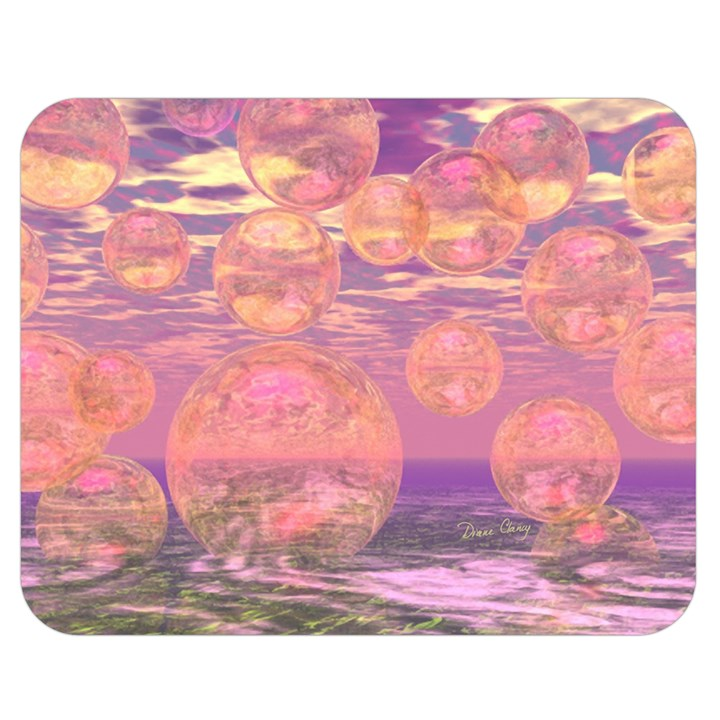Glorious Skies, Abstract Pink And Yellow Dream Double Sided Flano Blanket (Medium)
