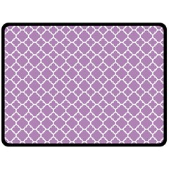 Lilac Purple Quatrefoil Pattern Fleece Blanket (large)