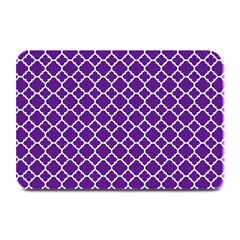 Royal Purple Quatrefoil Pattern Plate Mat