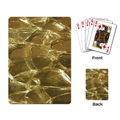 Gold Bar Golden Chic Festive Sparkling Gold  Playing Card