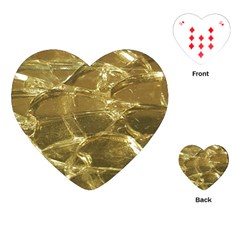Gold Bar Golden Chic Festive Sparkling Gold  Playing Cards (heart)