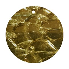 Gold Bar Golden Chic Festive Sparkling Gold  Round Ornament (Two Sides)