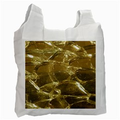 Gold Bar Golden Chic Festive Sparkling Gold  Recycle Bag (Two Side)