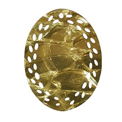 Gold Bar Golden Chic Festive Sparkling Gold  Ornament (oval Filigree)