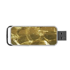 Gold Bar Golden Chic Festive Sparkling Gold  Portable Usb Flash (two Sides)