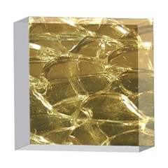 Gold Bar Golden Chic Festive Sparkling Gold  5  x 5  Acrylic Photo Blocks