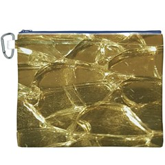Gold Bar Golden Chic Festive Sparkling Gold  Canvas Cosmetic Bag (XXXL)