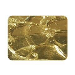 Gold Bar Golden Chic Festive Sparkling Gold  Double Sided Flano Blanket (Mini)