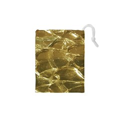 Gold Bar Golden Chic Festive Sparkling Gold  Drawstring Pouches (XS)