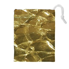 Gold Bar Golden Chic Festive Sparkling Gold  Drawstring Pouches (Extra Large)