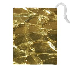 Gold Bar Golden Chic Festive Sparkling Gold  Drawstring Pouches (xxl)