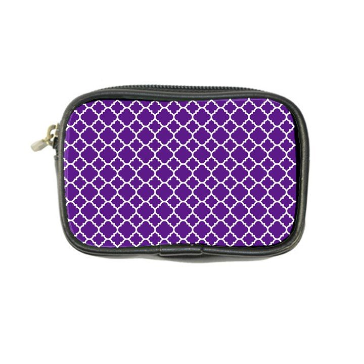 Turquoise Damask Pattern Coin Purse
