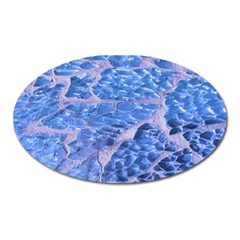 Festive Chic Light Blue Glitter Shiny Glamour Sparkles Oval Magnet