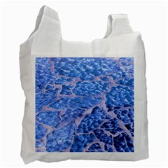 Festive Chic Light Blue Glitter Shiny Glamour Sparkles Recycle Bag (One Side)