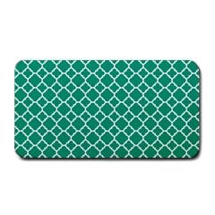 Emerald Green Quatrefoil Pattern Medium Bar Mat