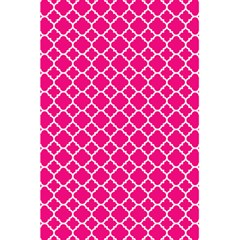 Hot Pink Quatrefoil Pattern 5 5  X 8 5  Notebook