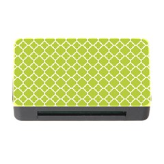 Spring Green Quatrefoil Pattern Memory Card Reader With Cf