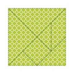 Spring Green Quatrefoil Pattern Acrylic Tangram Puzzle (6  X 6 )