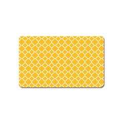 Sunny Yellow Quatrefoil Pattern Magnet (name Card)