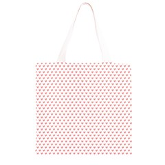 Soft Pink Small Hearts Pattern Grocery Light Tote Bag