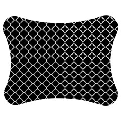 Black & White quatrefoil pattern Jigsaw Puzzle Photo Stand (Bow)