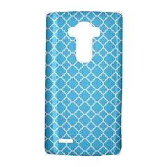 Bright Blue Quatrefoil Pattern LG G4 Hardshell Case