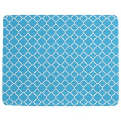 Bright Blue Quatrefoil Pattern Jigsaw Puzzle Photo Stand (Rectangular)