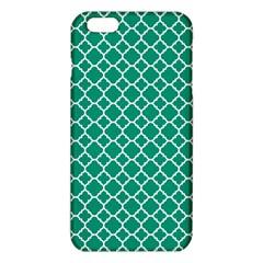 Emerald green quatrefoil pattern iPhone 6 Plus/6S Plus TPU Case