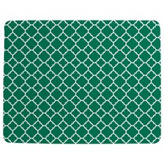 Emerald green quatrefoil pattern Jigsaw Puzzle Photo Stand (Rectangular)