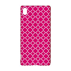 Hot pink quatrefoil pattern Sony Xperia Z3+ Hardshell Case