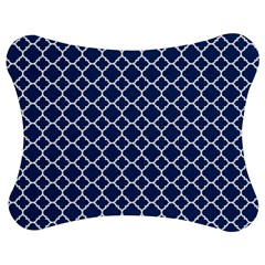 Navy blue quatrefoil pattern Jigsaw Puzzle Photo Stand (Bow)
