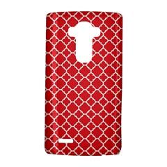 Poppy Red Quatrefoil Pattern Lg G4 Hardshell Case
