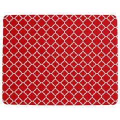 Poppy Red Quatrefoil Pattern Jigsaw Puzzle Photo Stand (rectangular)