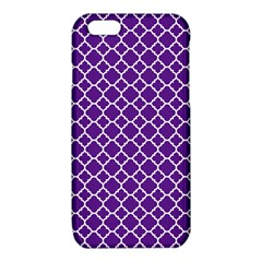 Royal purple quatrefoil pattern iPhone 6/6S TPU Case
