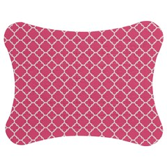 Soft Pink Quatrefoil Pattern Jigsaw Puzzle Photo Stand (bow)