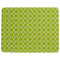 Spring green quatrefoil pattern Jigsaw Puzzle Photo Stand (Rectangular)