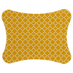 Sunny Yellow Quatrefoil Pattern Jigsaw Puzzle Photo Stand (bow)