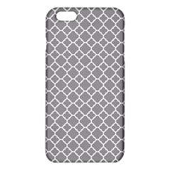 Grey quatrefoil pattern iPhone 6 Plus/6S Plus TPU Case