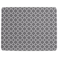 Grey quatrefoil pattern Jigsaw Puzzle Photo Stand (Rectangular)