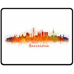 Barcelona City Art Double Sided Fleece Blanket (medium)