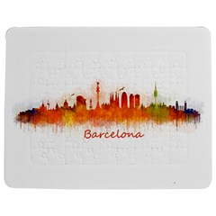 Barcelona City Art Jigsaw Puzzle Photo Stand (Rectangular)