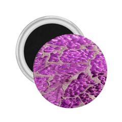 Festive Chic Pink Glitter Stone 2.25  Magnets
