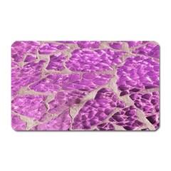 Festive Chic Pink Glitter Stone Magnet (Rectangular)
